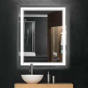 A wall mirror can save you quite a bit of space
